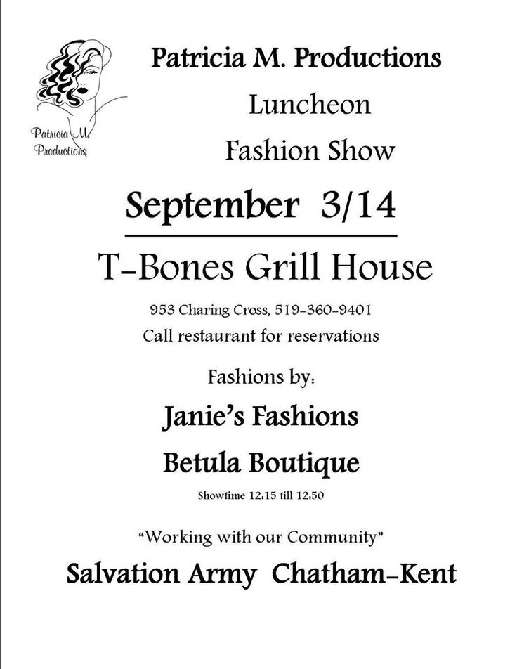 https://www.facebook.com/TBonesGrillHouse #FashionShow #Charity