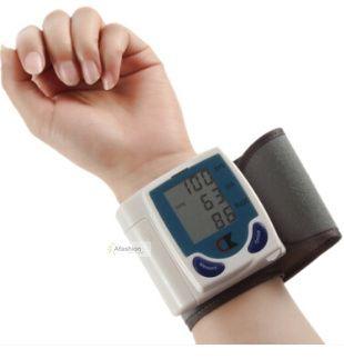 1 pc família de monitor com tela Digital de pressão arterial de saúde pulso dispositivo de pulso coração de fácil de usar alishoppbrasil
