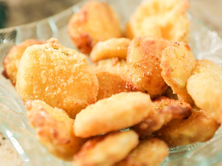 Fried Pickles with Cajun Aioli recipe from Damaris Phillips via Food Network ALERT - I taste a SUPERBOWL SNACK!!!!!