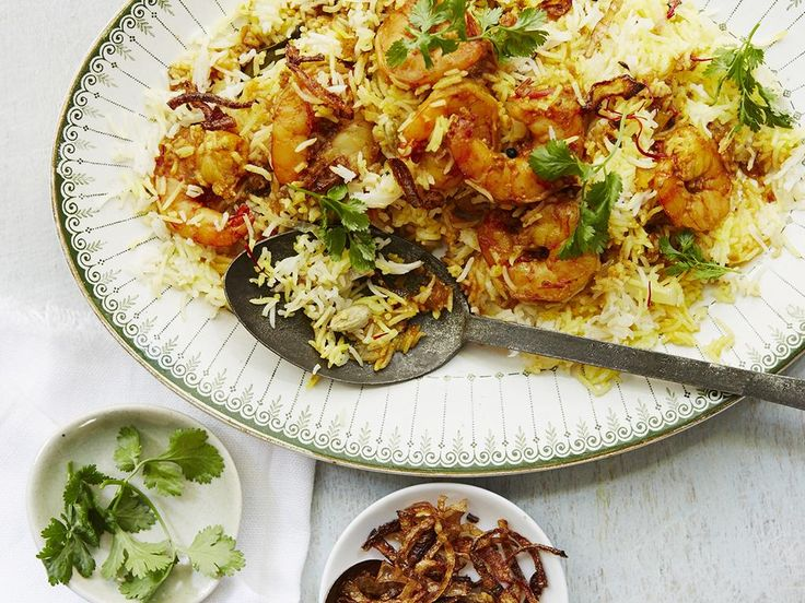 Malabar Prawn biryani recipe by Anjum Anand