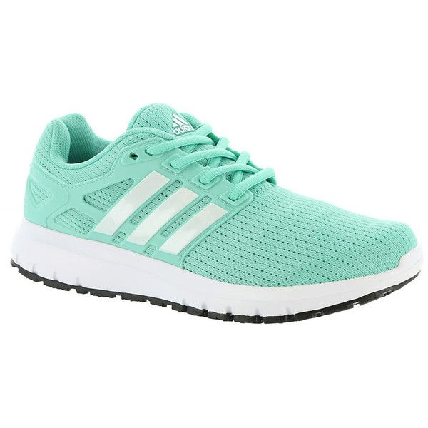 adidas Energy Cloud Women's Green Running 11 M (210 BRL) ❤ liked on Polyvore featuring shoes, athletic shoes, green, caged shoes, laced shoes, cushioned shoes, adidas shoes and adidas