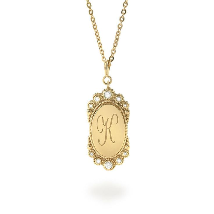 Tulola Engraved Oval Pendant Gold Dip (Custom Order) http://www.shoptulola.com/collections/engraved-oval-pendant-custom-order.html #SophieParis