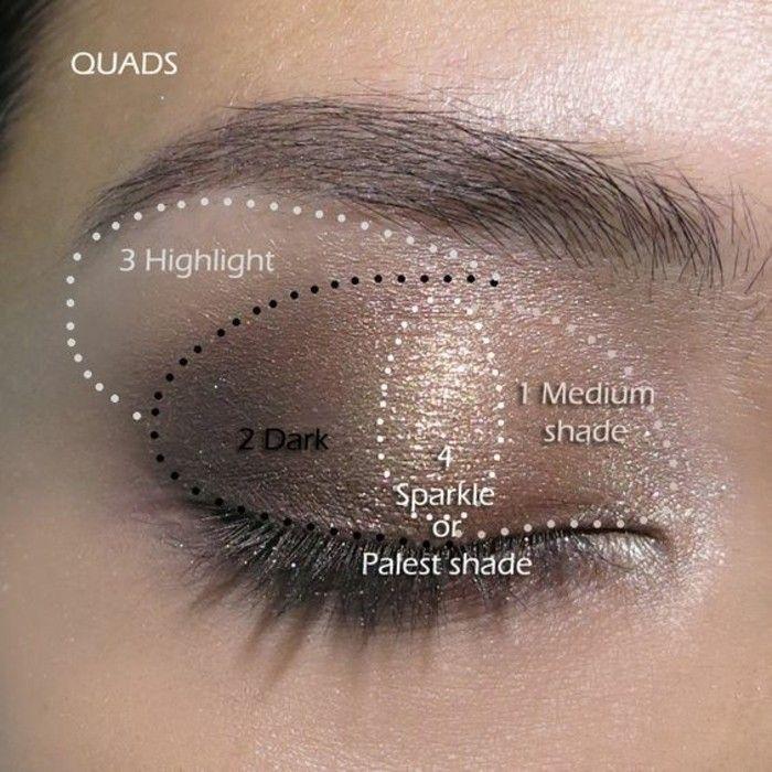 золотисто-коричневый макияж в ассортименте, макияж карие глаза