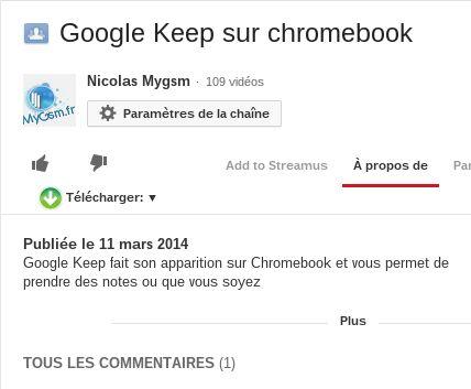 Téléchargez facilement des vidéos youtube sur Chromebook