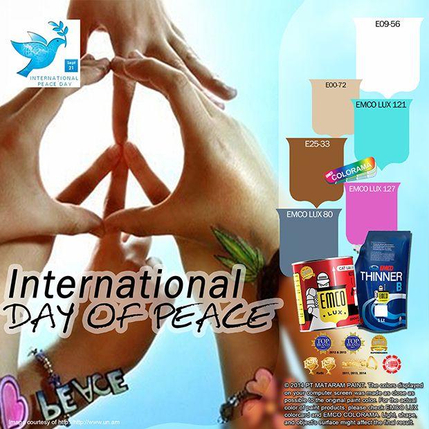 Kawan EMCO, pada tanggal 21 September nanti kita akan memperingati Hari Perdamaian Internasional. Dalam sidang umum PBB tanggal 28 September 2001 telah disetujui resolusi Nomor 55/282 yang menetapkan tanggal 21 September sebagai International Day of Peace. Penetapan Hari Perdamaian Dunia oleh PBB tersebut merupakan sebuah himbauan dan ajakan bagi semua bangsa dan anggota masyarakat di muka bumi ini untuk menghentikan segala bentuk permusuhan dan konflik.  #emcolux #kayu #besi #surabaya