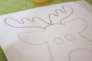 DIY Reindeer shirt. I think I'll be making a few of these. Too cute!