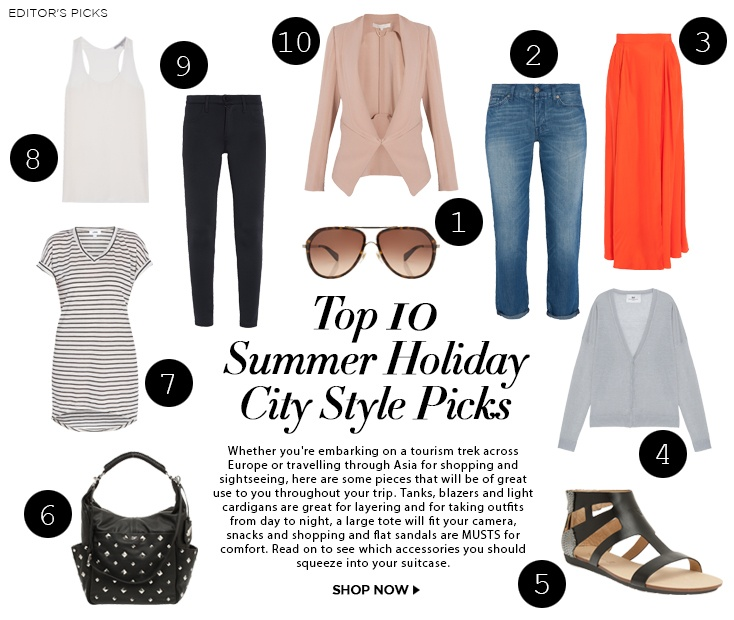 TOP 10 SUMMER HOLIDAY CITY STYLE PICKS | Boutique1 – Fashion Insider