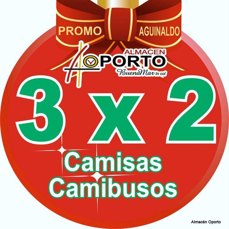 Agradecimiento a #Cartago PromoAguinaldos, 3X2 en camisas Oporto BuenaMar