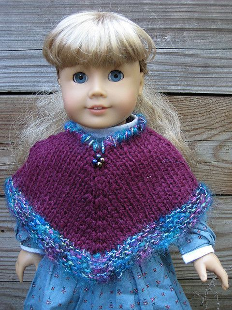 Knitting Pattern For Dolls Poncho : Ravelry: Kirstens Poncho pattern by Christiane Burkhard ...