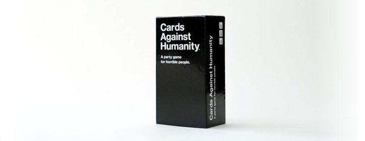 cards against humanity game on white background