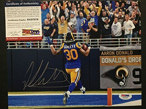 AutographedSigned Todd Gurley Los Angeles Rams 8x10 Football Photo PSADNA COA Auto 3 >>> Learn more by visiting the image link. (Note:Amazon affiliate link)