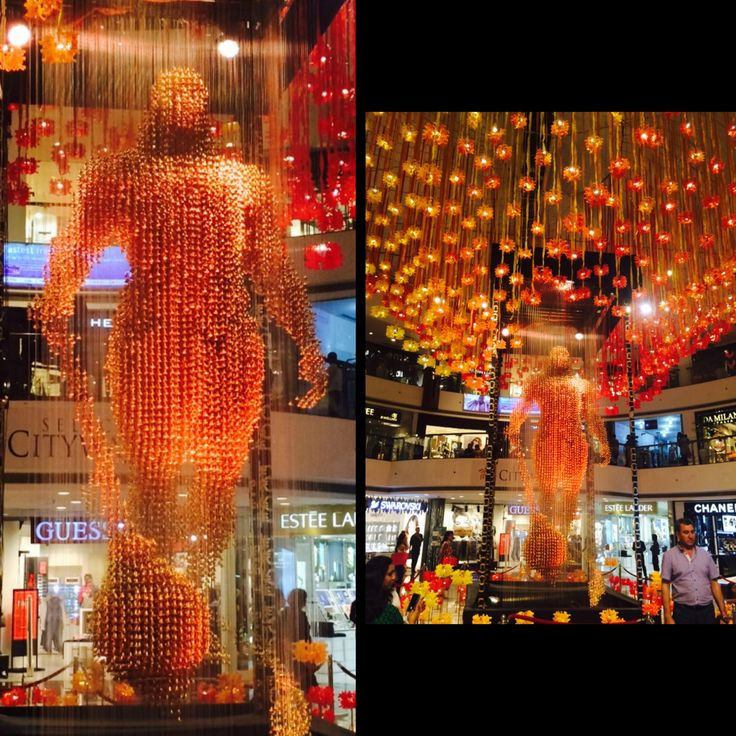 India the place of worship and god(s) goes to another level Hanuman murti made out of 26k bells. An amazing view with the perfect colour and lighting that fascinated me.(select city saket,delhi)