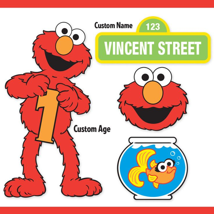 Custom Printable Sesame Street Elmo Centerpiece Displays / Elmo Birthday / Cake Topper by PartiPartieParty on Etsy https://www.etsy.com/listing/215212825/custom-printable-sesame-street-elmo
