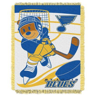 Northwest Co. NHL Blues Baby Woven Throw Blanket