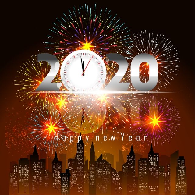 Happy New Year 2020 Background With Fireworks 2020
