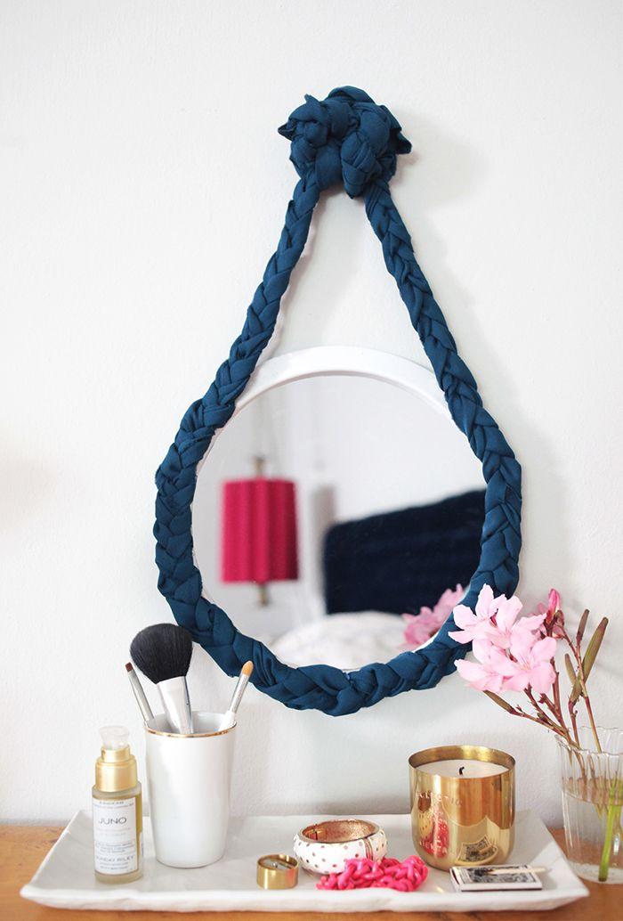 DIY: fabric braided mirror ❥Teresa Restegui http://www.pinterest.com/teretegui/❥