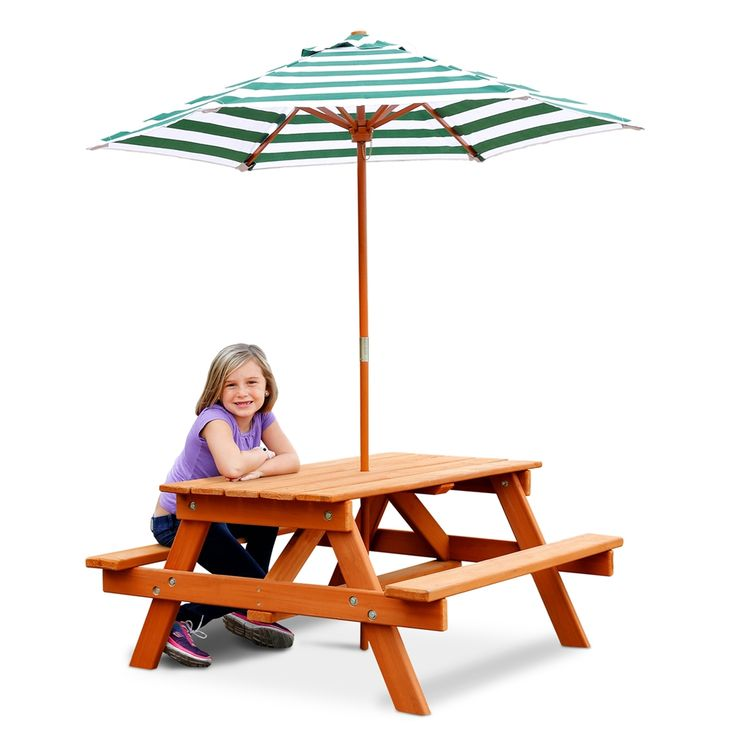 Shop Gorilla Playsets 02 3003 Childrenu0027s Picnic Table And Umbrella At The  Mine. Browse
