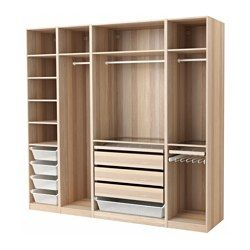 IKEA - PAX, Wardrobe, , 10-year Limited Warranty. Read about the terms in the Limited Warranty brochure.You can easily adapt this ready-made PAX/KOMPLEMENT combination to suit your needs and taste using the PAX planning tool.If you want to organize inside you can complement with interior organizers from the KOMPLEMENT series.Adjustable feet make it possible to compensate for any irregularities in the floor.