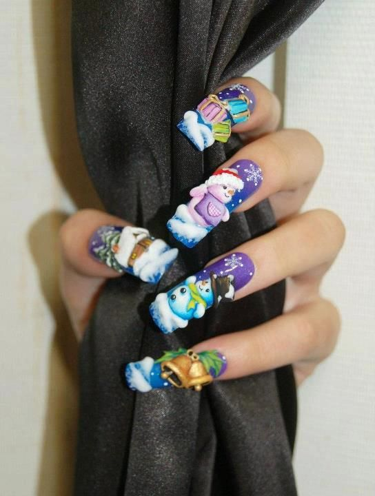 Nail Art by Pisut Masanong christmas #nail #nails #nailart