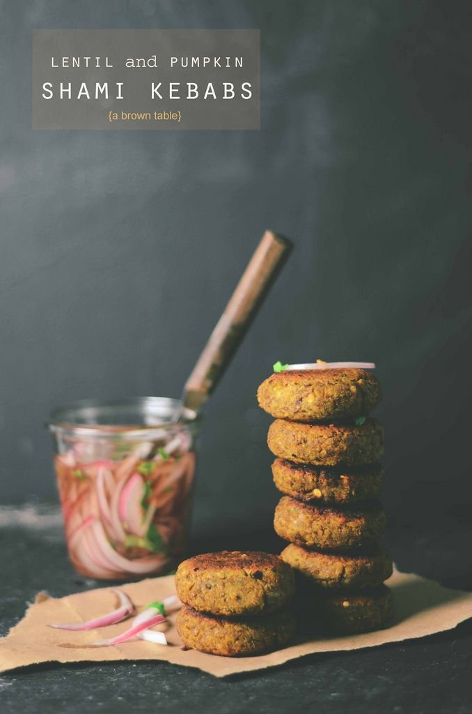 lentil and pumpkin shami kebab