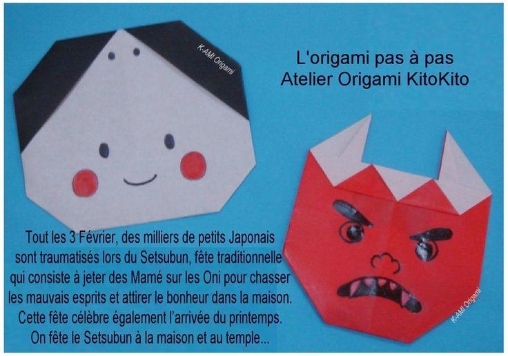 """Setsubun"" Fête japonaise - L'origami pas à pas / Atelier Origami KitoKito"