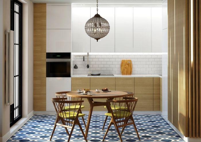 Студия в Химках для молодой пары: 50 м² и спальня в прозрачном кубе – Красивые квартиры