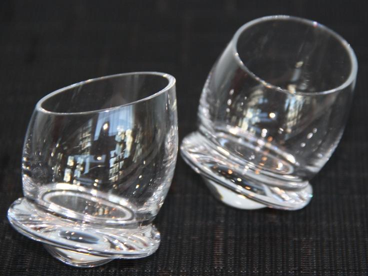 Rosenthal Germany Wobble Shot Glasses Set Of 2 Nib Shot