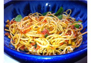 Rick Stein - Spaghetti with tomatoes, mint and capers recipe