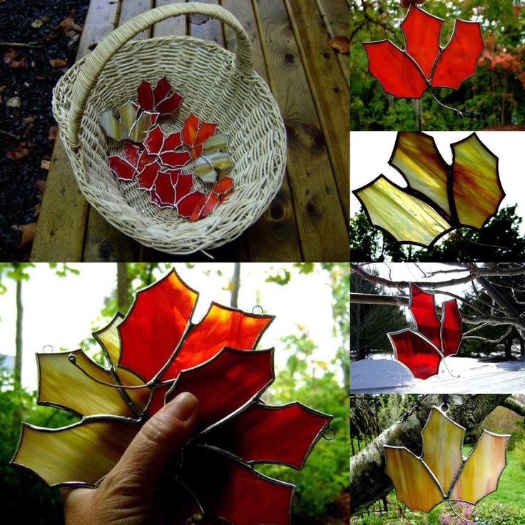 Canadian Maple Leaf in stained glass