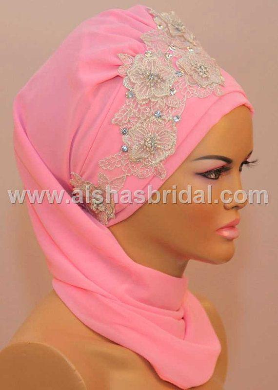 Ready To Wear Hijab  Code HT0072 by HAZIRTURBAN on Etsy, $48.00
