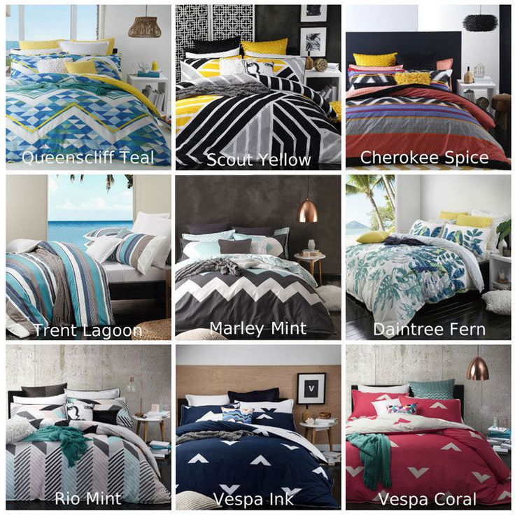 Logan and Mason Doona | Quilt Cover Set Single Double Queen King Size Bed NEW
