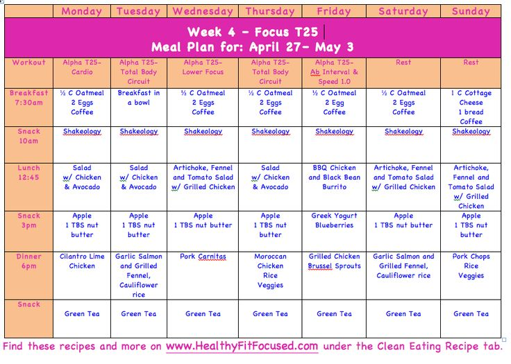 T25 Week 3 Update and Clean Eating Meal Plan T25 Women's Progress Update and NEW Clean Eating Meal Plan… Would you like some extra support in your health and fitness journey and to reach your goals…fill out this application for more info and support!-->https://julielittle.wufoo.com/forms/challenge-group-application/