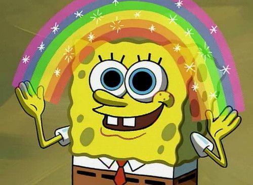 spongebob rainbow meme - Google Search