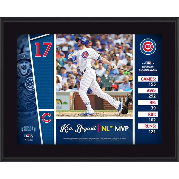 """Kris Bryant Chicago Cubs Fanatics Authentic 10.5"""" x 13"""" 2016 National League MVP Sublimated Plaque - $29.99"""