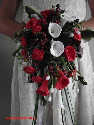 willewopsie: Gehaakt bruidsboeket