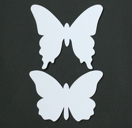 Butterfly template card templates printable pinterest for Wall art templates free