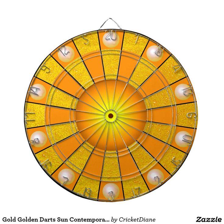 Gold Golden Darts Sun Contemporary Designer Dartboards