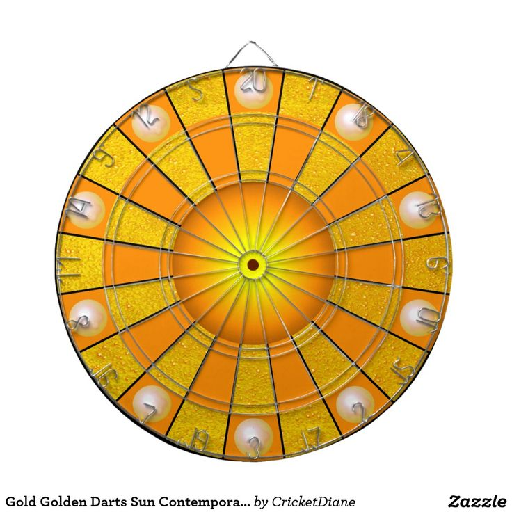 Gold Golden Darts Sun Contemporary Designer Dartboards