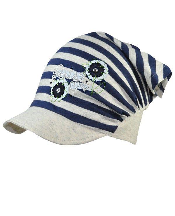 Летняя шапочка-косынка трикотажная для девочек Broel Samba. Купить польские шапки в розницу с доставкой по всей России. Возможен самовывоз в Москве.