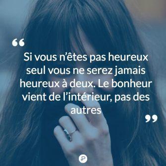 Si vous n'êtes pas #heureux #seul vous ne serez #jamais heureux à deux, le #bo…