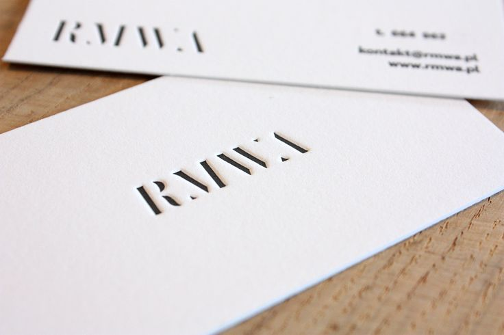 RMWA #letterpress #slowprint #businesscard #cottonpaper