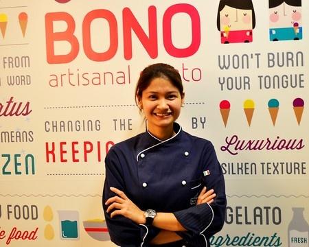 Zarah Zaragoza-Manikan @ BONO ARTISANAL GELATO, Makati, Philippines