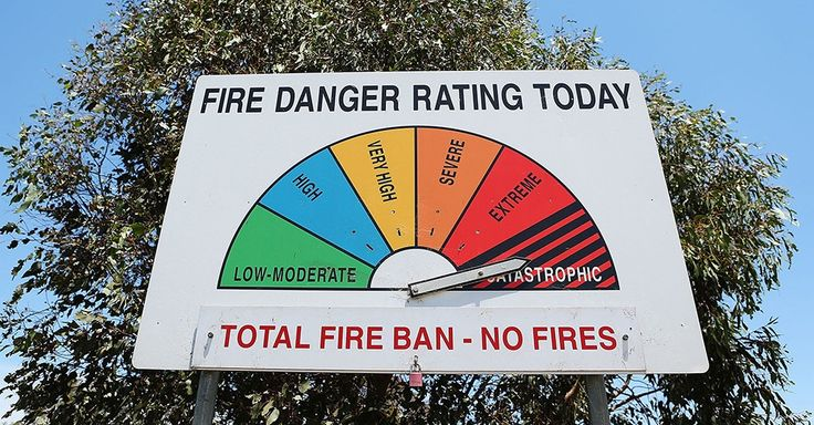 When the FDR (Fire Danger Rating) is Extreme or Catastrophic for an area it means any fires that start are likely to be so fierce that even a well prepared, well constructed and actively defended home may not survive a fire.