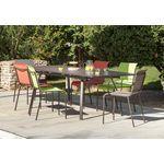 Mixez les couleurs dans le jardin, avec le salon extérieur Granada Color de la marque Proloisirs.Parfait pour 8 à 10 personnes grâce sa table avec rallonge escamotable qui passe de 180cm à 240cm, ce salon de jardin est un salon conviviale.Acheter ce Salon 6 personnes, c'est assurément mettre de la couleur et de la gaieté dans votre jardin.Le Salon Granada Color se compose d'une table, de deux fauteuils taupe, 2 chaises Lime et 2 chaises Terra cotta.Mélangez les coloris et proposez à vos…