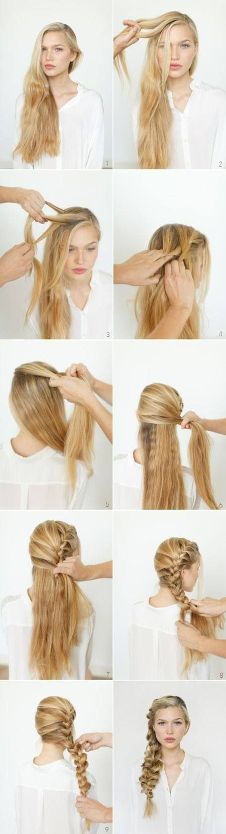 How to make a side braid leaving the back length for last