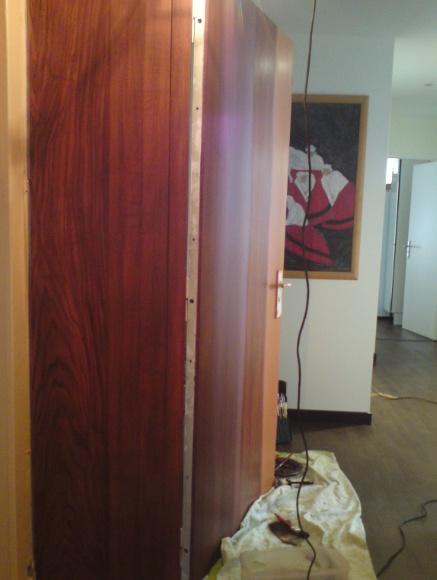 peinture faux bois acajou en cours Porte du0027entrée de cabinet d