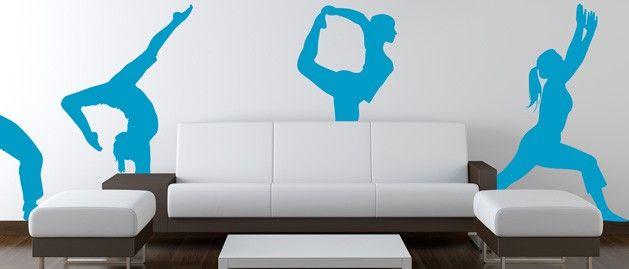 Gymnastka přemet (1408) / Samolepky na zeď, stěnu a nábytek