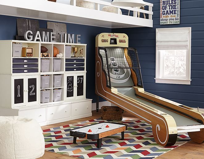Like the game time sign - in book case? Image result for teen game room ideas