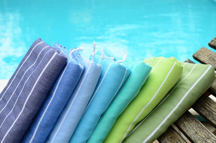 Turkish towels by Willa Nord, colors: navy,blue,light blue, turquoise, mint, lime, olive