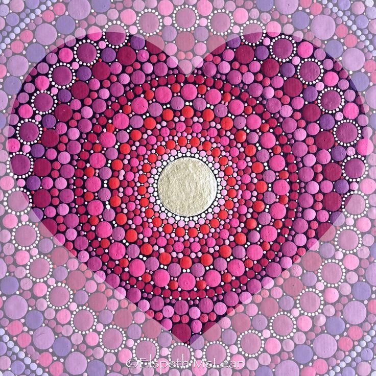 Love mandala by Elspeth McLean #love Para tratarte a Tí mismo, usa tu Cabeza... Para tratar a otros, usa tu Corazón... ॐ